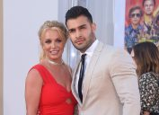 """Britney Spears and Sam Asghari at the premiere of """"Once Upon a Time in Hollywood"""" in 2019"""