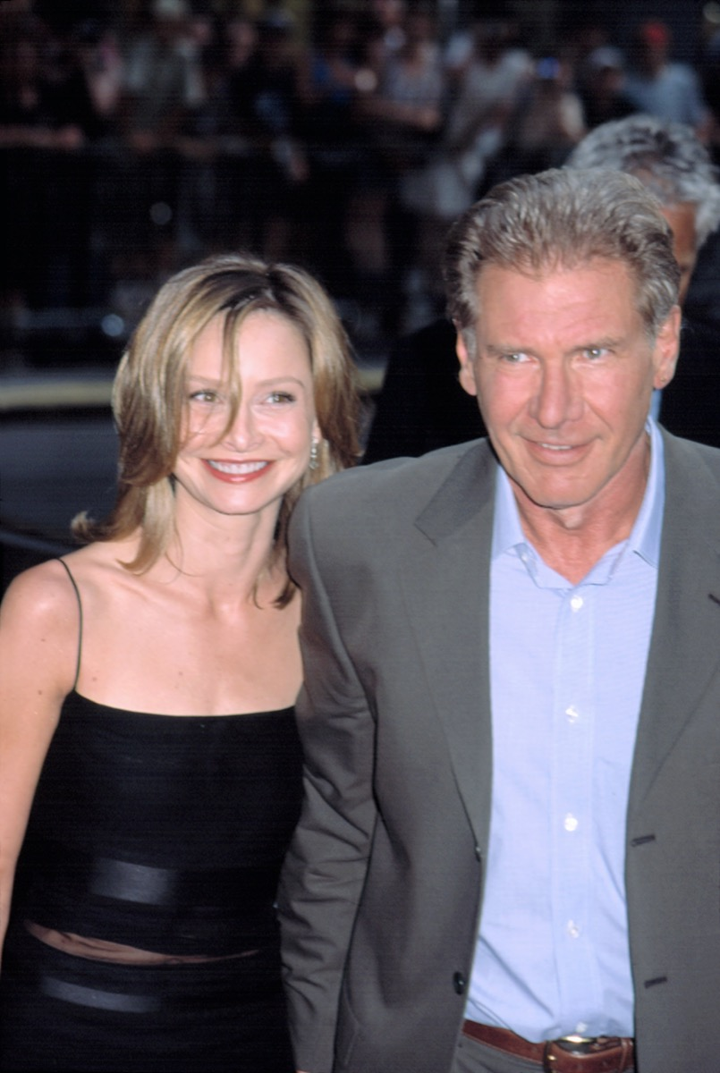 Calista Flockhart and Harrison Ford in 2002