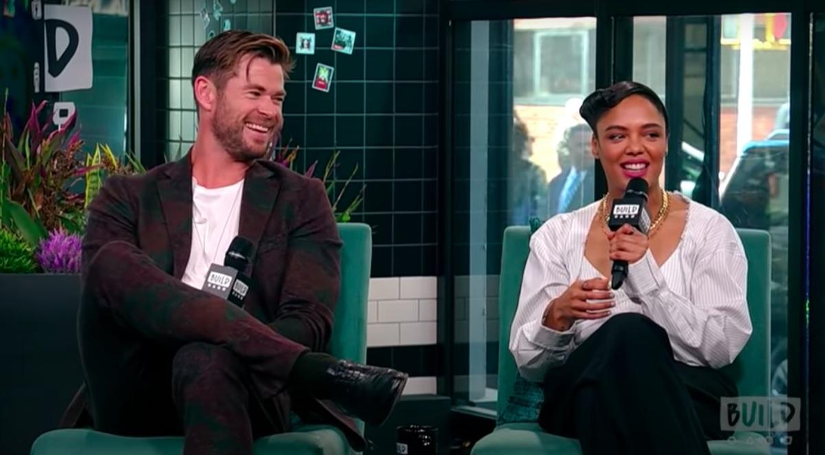 Chris Hemsworth and Tessa Thompson