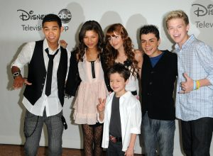 Roshon Fegan, Zendaya, Bella Thorne, Adam Irigoyen, Kenton Duty, and Davis Cleveland at Disney press presentation in 2010