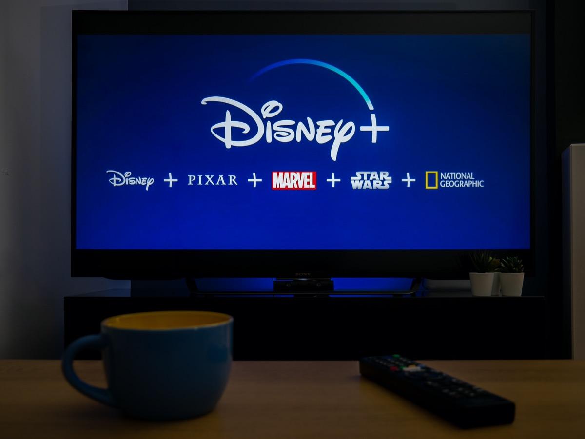 Disney+ Logo on TV