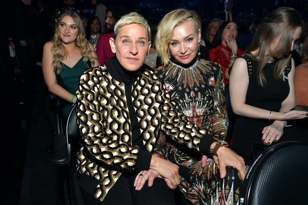 Ellen DeGeneres and Portia de Rossi in 2020