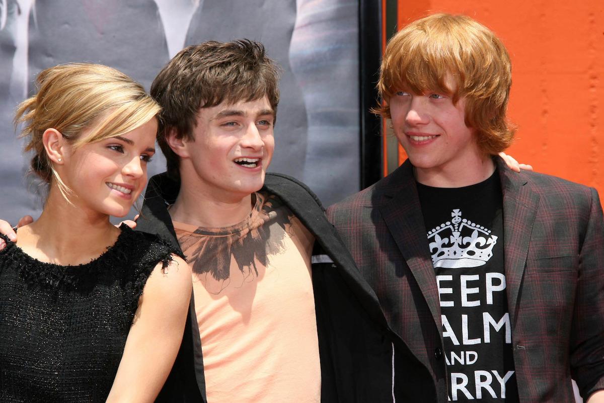 Emma Watson, Daniel Radcliffe, Rupert Grint 2007