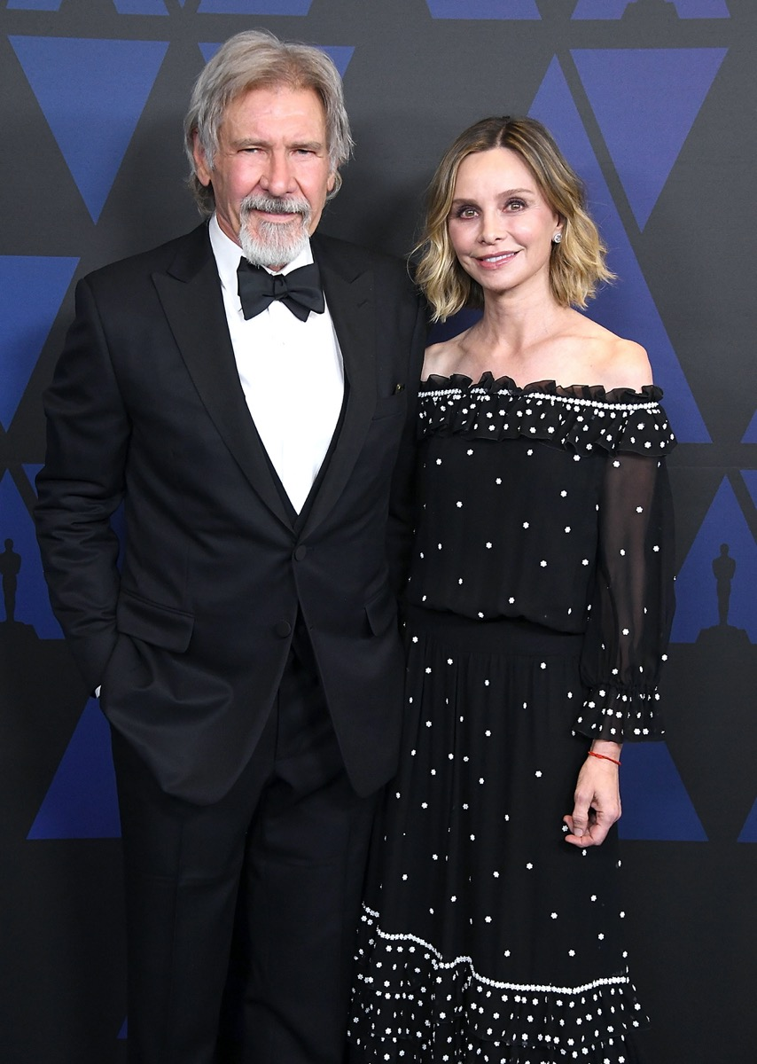 Harrison Ford and Calista Flockhart in 2018