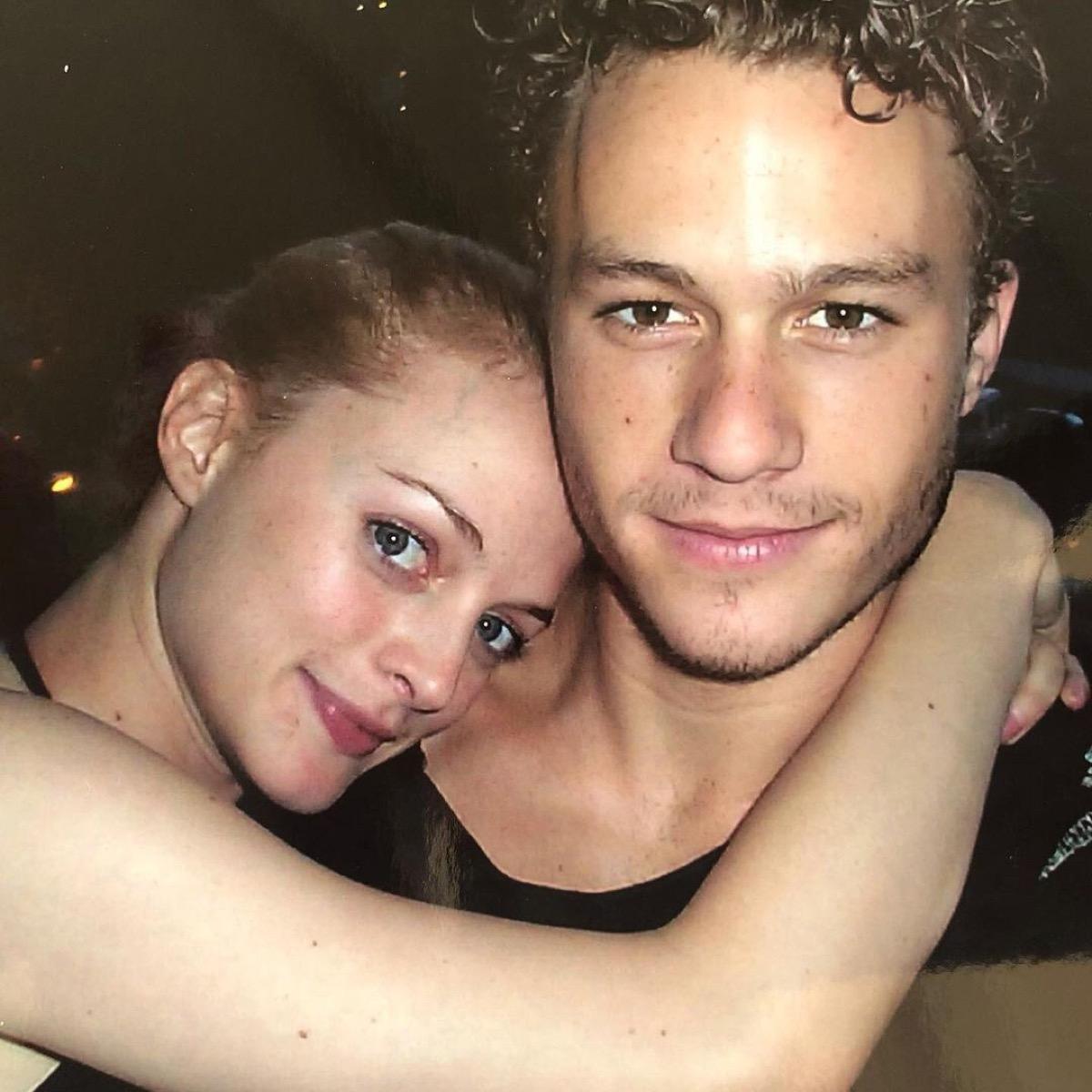 Heather Graham and Heath Ledger personal photo