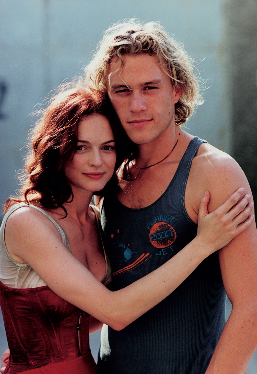 Heather Graham and Heath Ledger in 2000