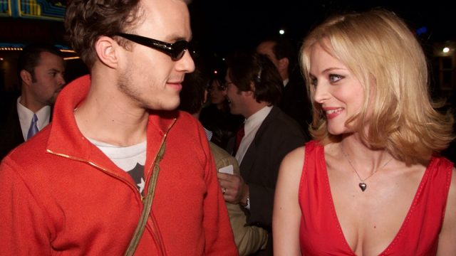 Heath Ledger and Heather Graham in 2001