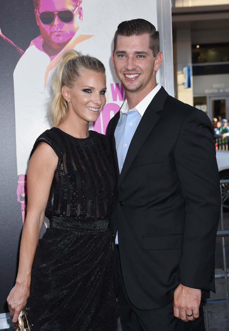 Heather Morris and Taylor Hubbell at the Los Angeles premiere of War Dogs in 2016