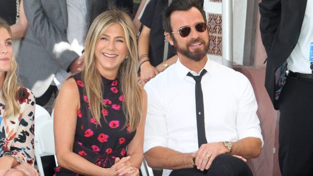 Jennifer Aniston and Justin Theroux and Jason Bateman's Hollywood Walk of Fame ceremony in 2017