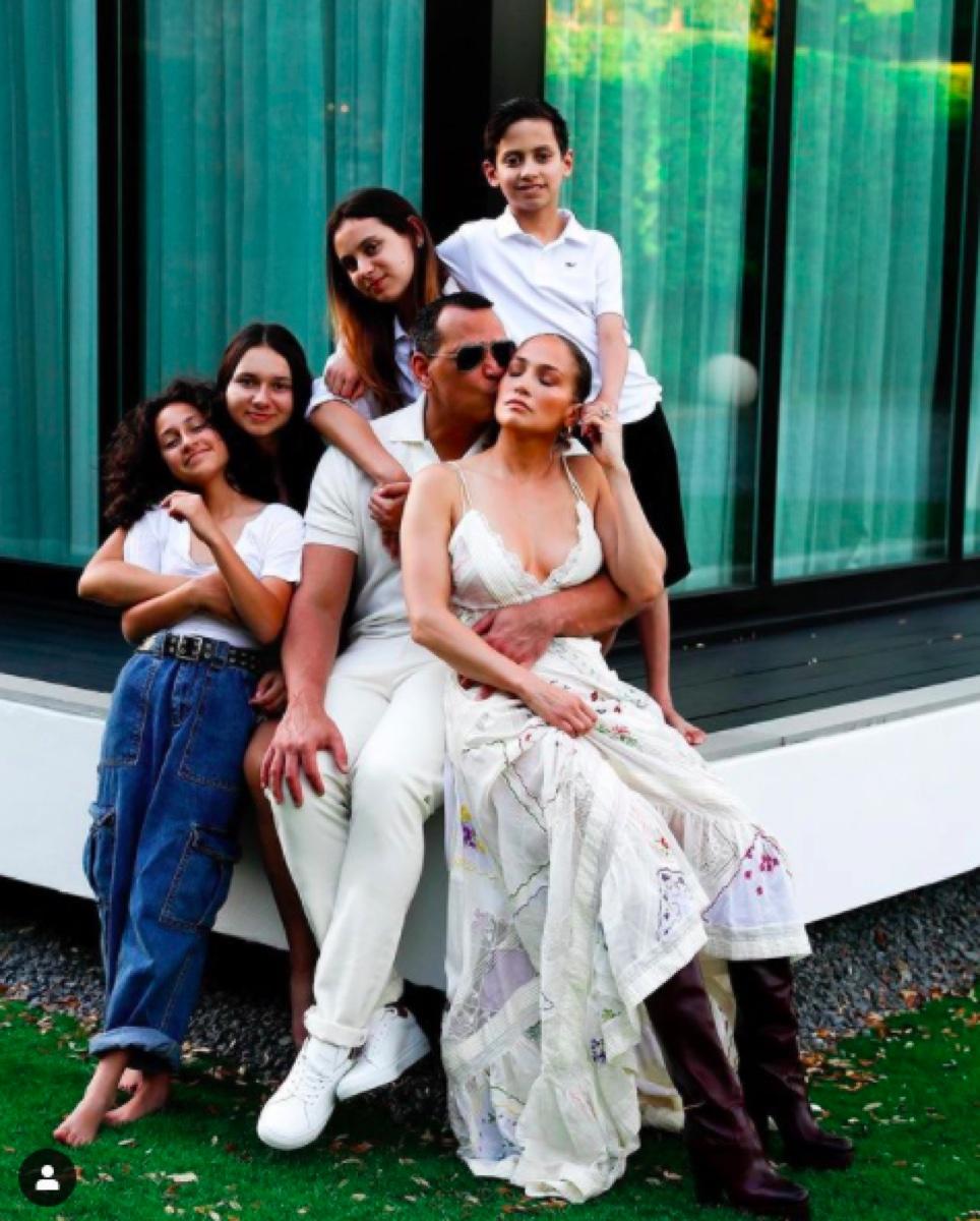 Alex Rodriguez Jennifer Lopez and their children