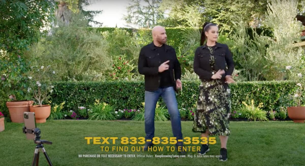 John and Ella Travolta Super Bowl ad