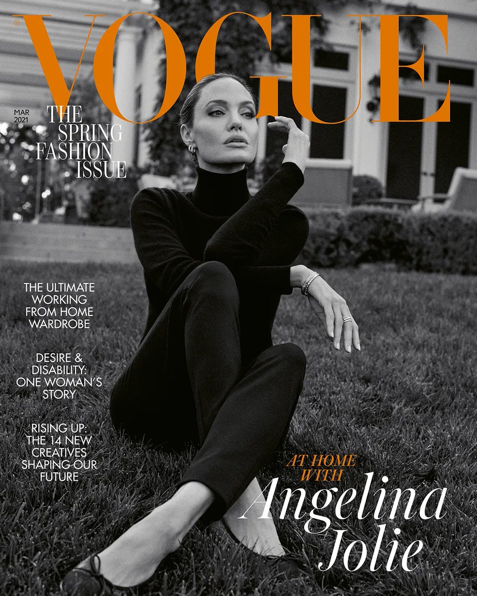 Angelina Jolie on the March 2021 cover of British Vogue