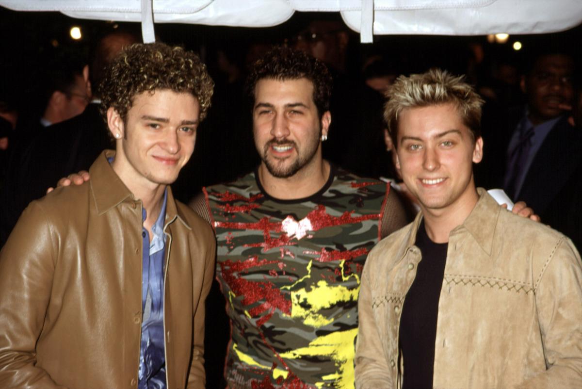 Justin Timberlake, Joey Fatone, Lance Bass in 2000