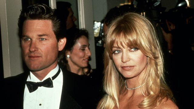 Kurt Russell and Goldie Hawn in 1990