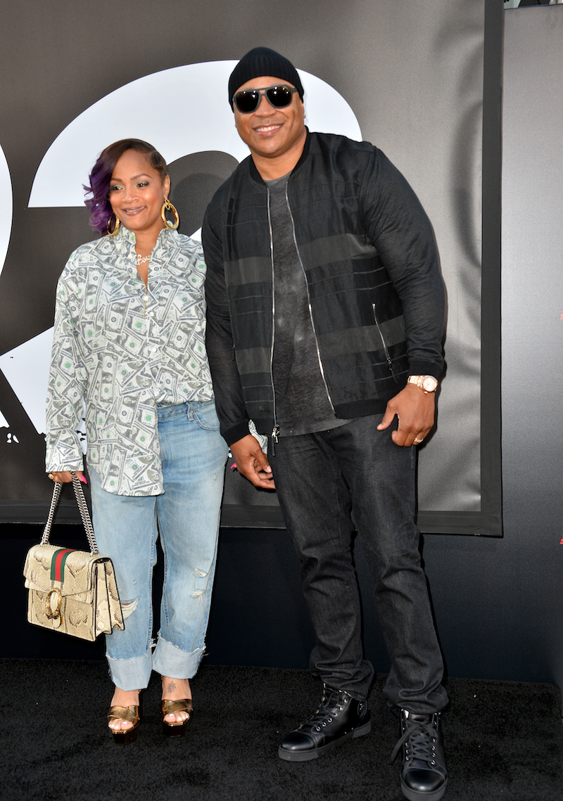 LL Cool J & Simone Smith at the premiere for The Equalizer 2 in 2018