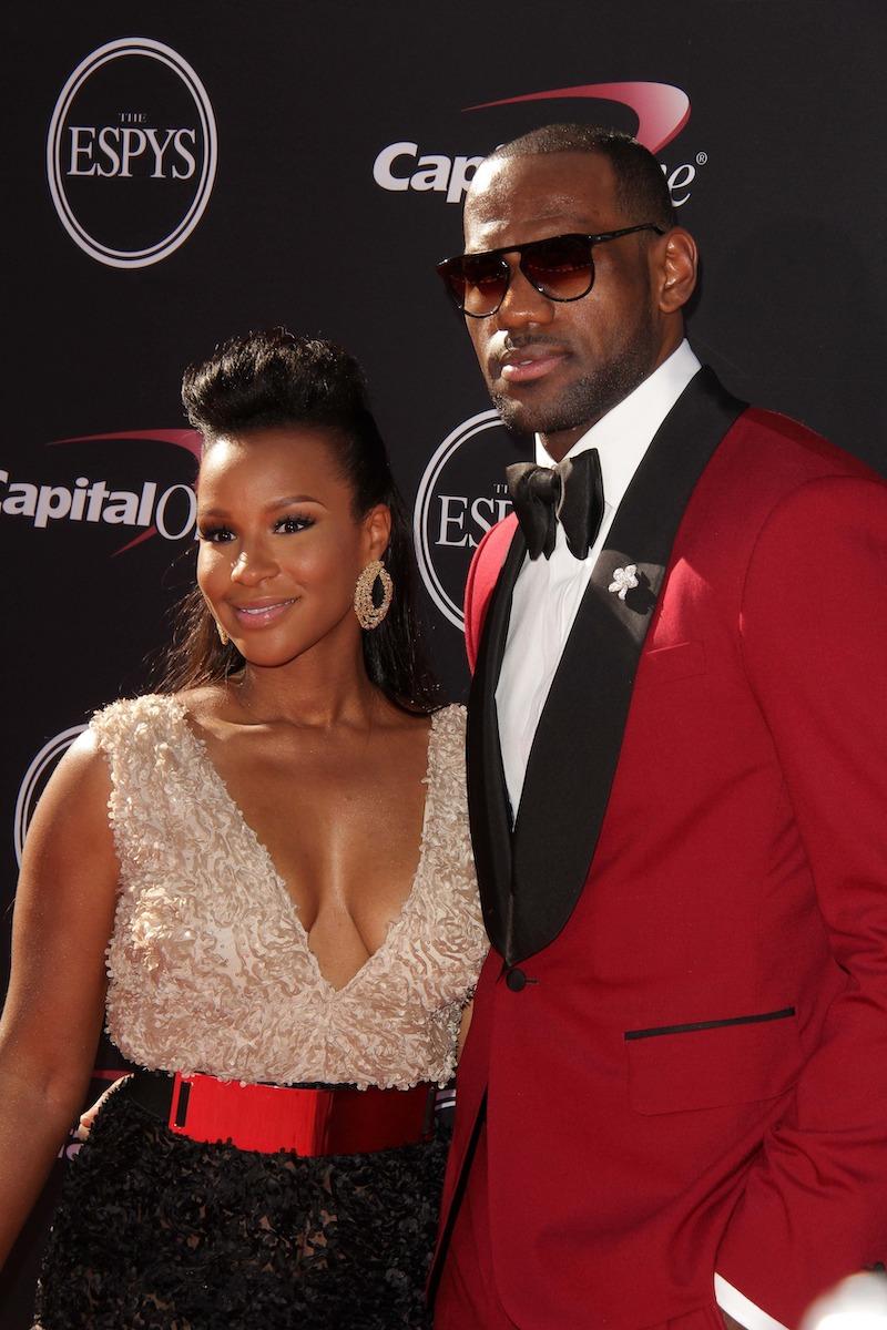 LeBron James and Savannah Brinson at The 2013 ESPY Awards, Nokia Theatre L.A. Live,