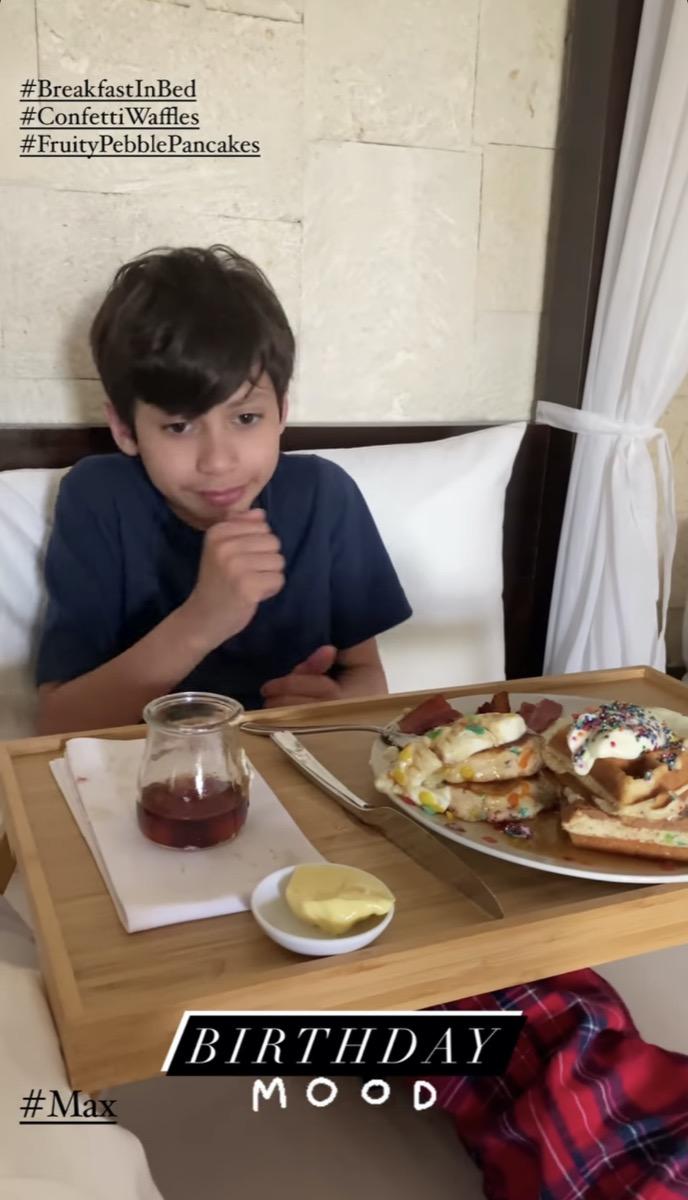 Jennifer Lopez's son Max in birthday Instagram