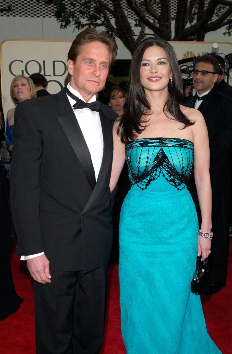 Michael Douglas and Catherine Zeta Jones in 2001