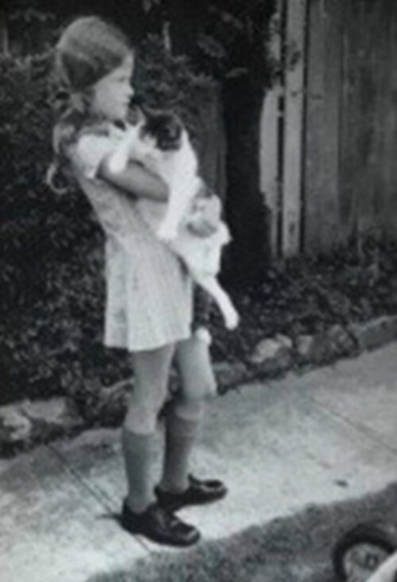 Instagram photo of young Nicole Kidman with her cat