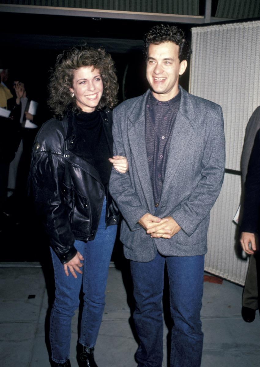 Rita Wilson and Tom Hanks in 1986