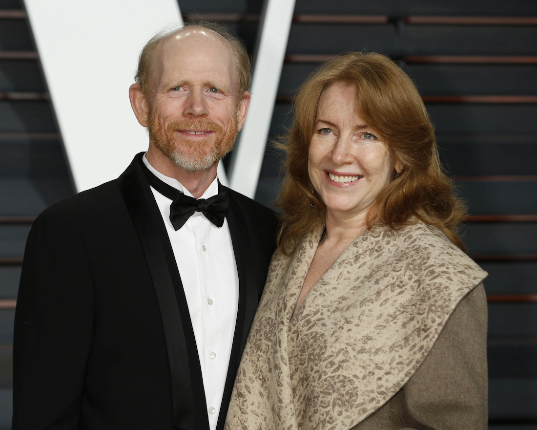 Ron Howard and Cheryl Howard at the Vanity Fair Oscar Party in 2015