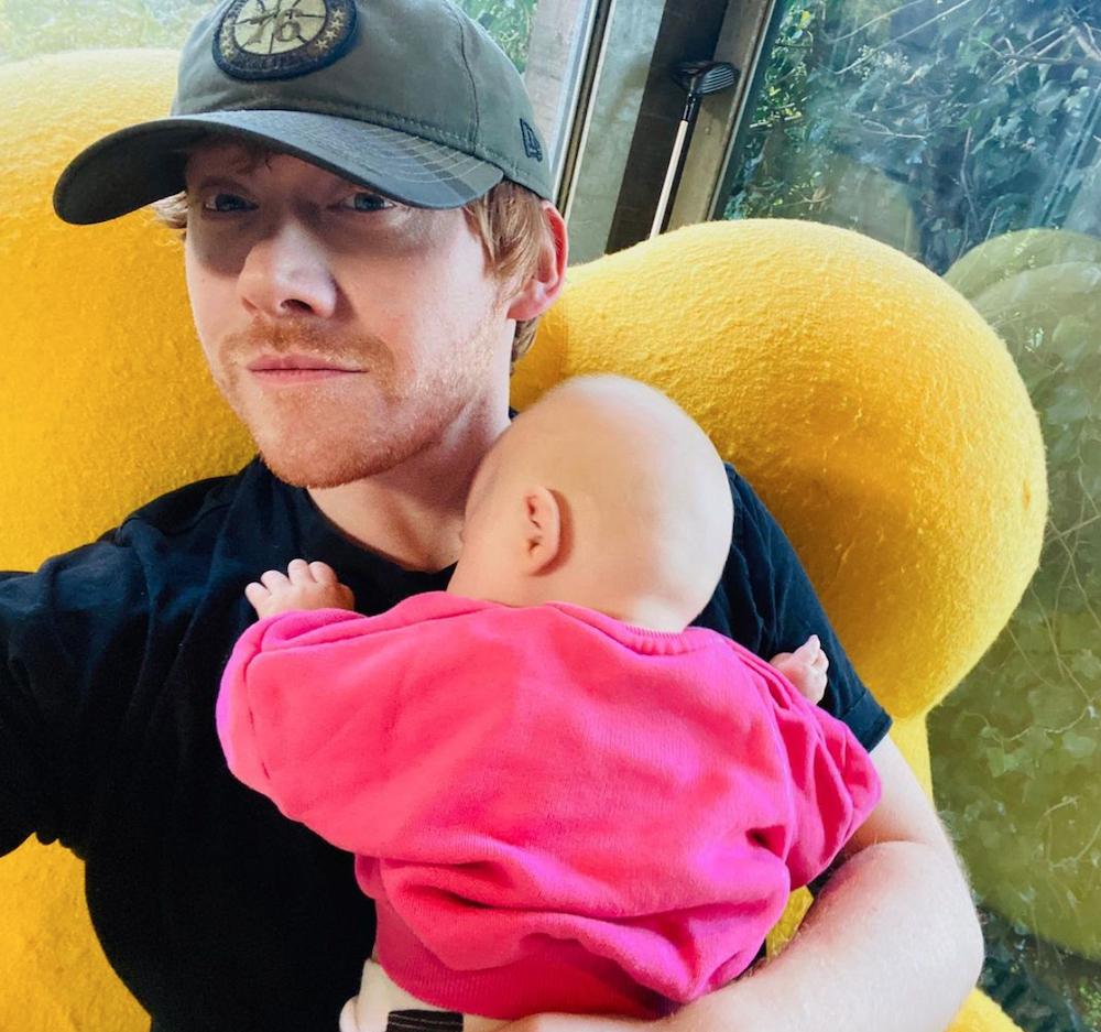 Rupert Grint and baby