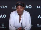 Serena Williams gets emotional at press conference