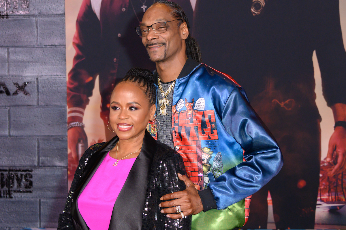 Shante Broadus and Snoop Dogg at the Hollywood premiere of Bad Boys for Life in 2020
