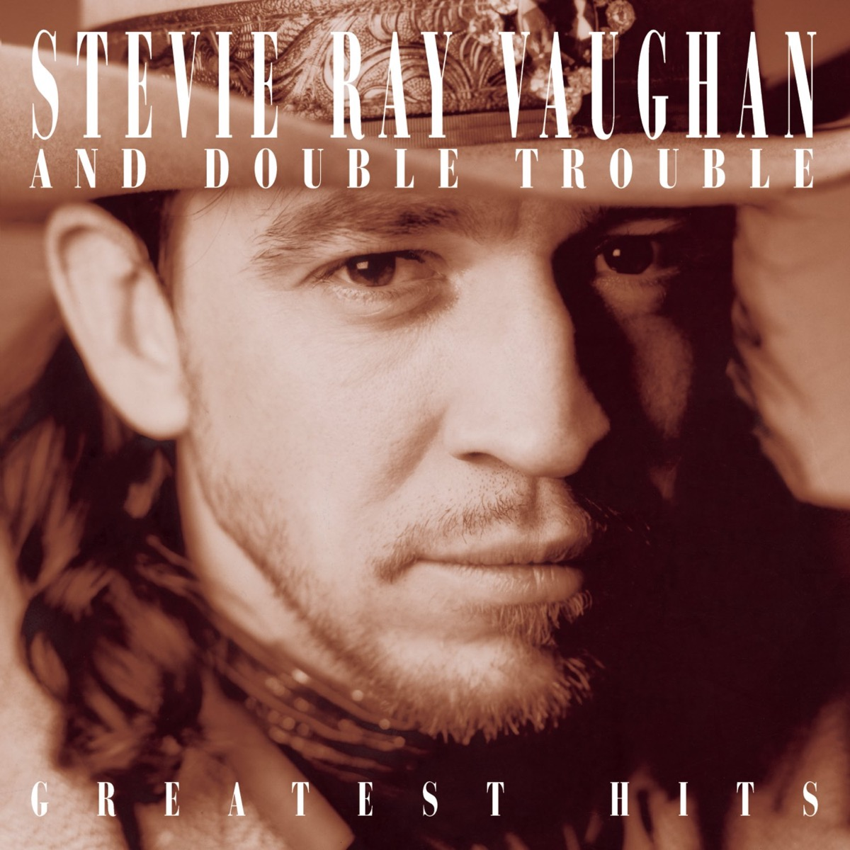 """Stevie Ray Vaughan """"Greatest Hits"""" album cover"""