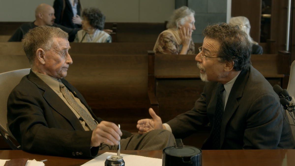 Michael Peterson and David Rudolf in The Staircase