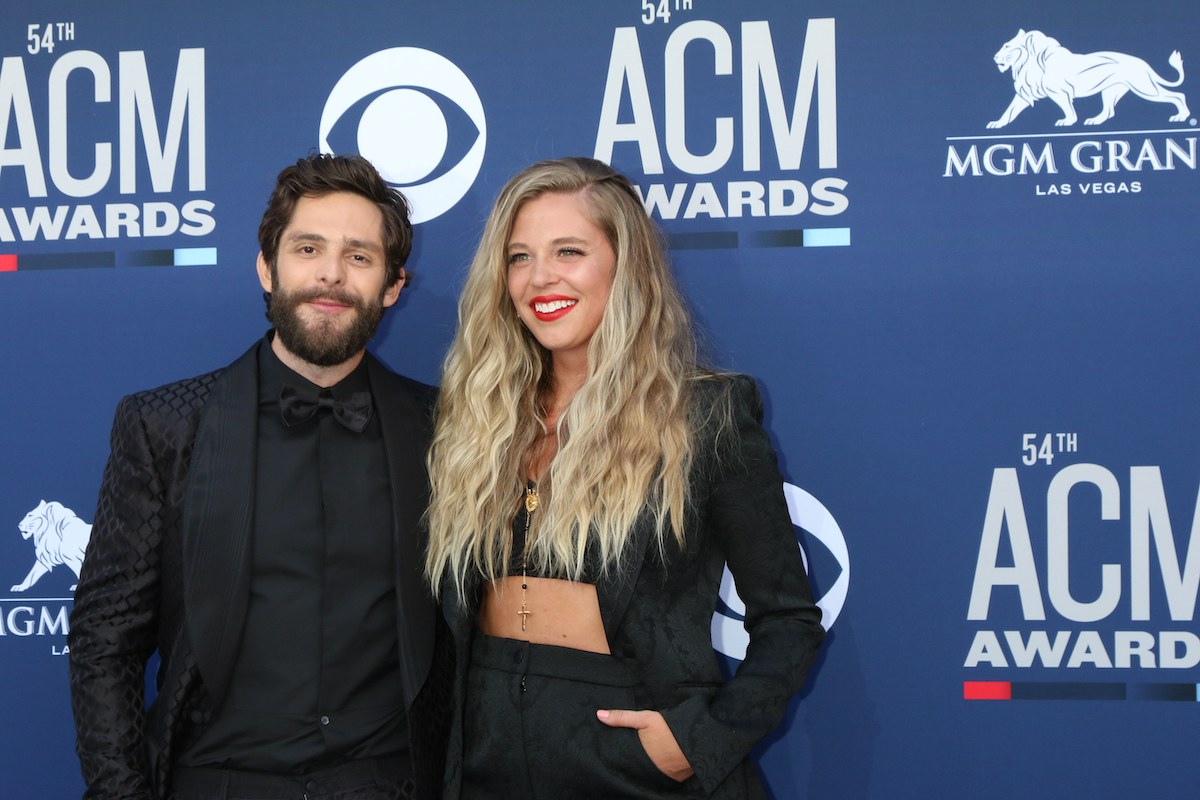 Thomas Rhett and Lauren Akins at the 54th Academy of Country Music Awards in 2019
