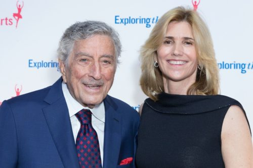 Tony Bennett and Susan Benedetto at the Exploring the Arts gala in New York in 2018