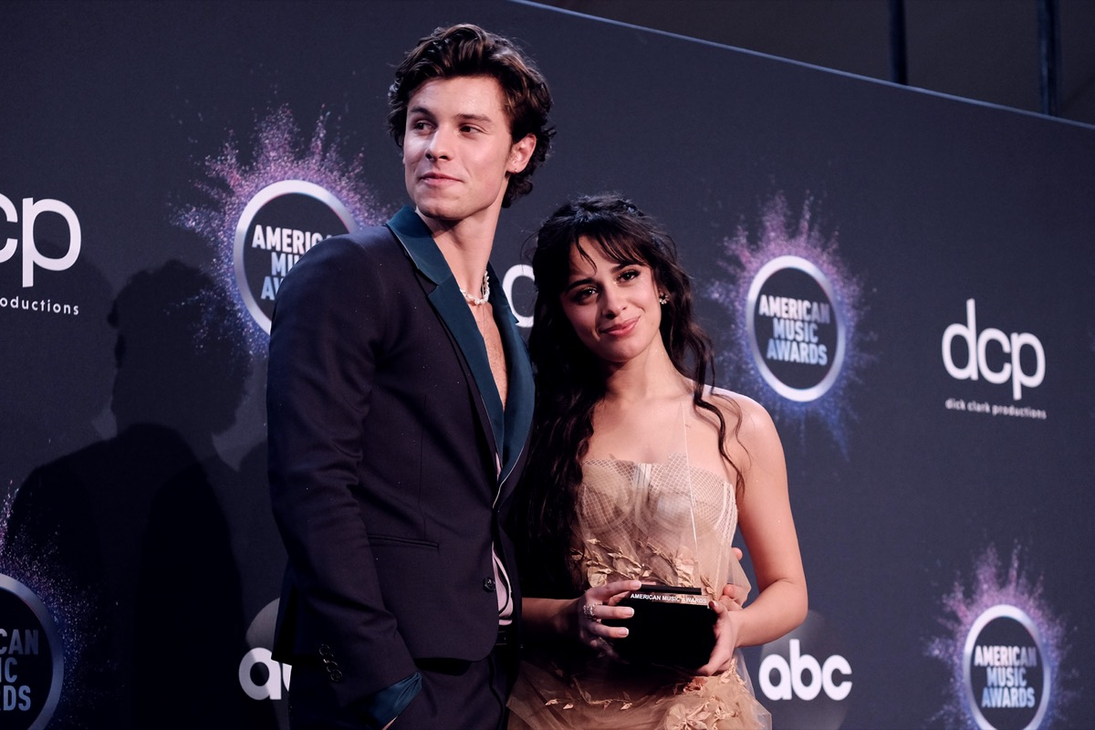 Camila Cabello and Shawn Mendes at the American Music Awards in 2019