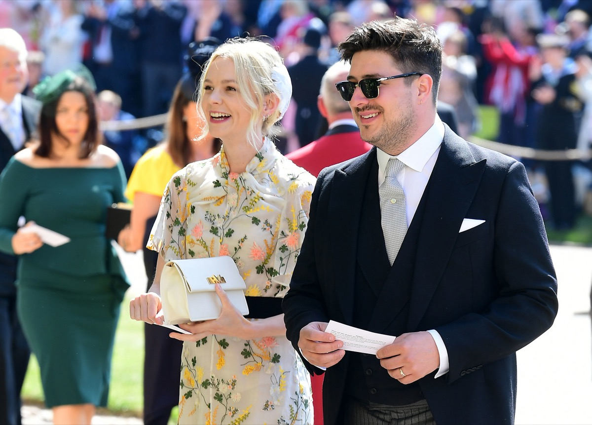Carey Mulligan and Marcus Mumford at the wedding ceremony for the Duke and Duchess of Sussex in 2018