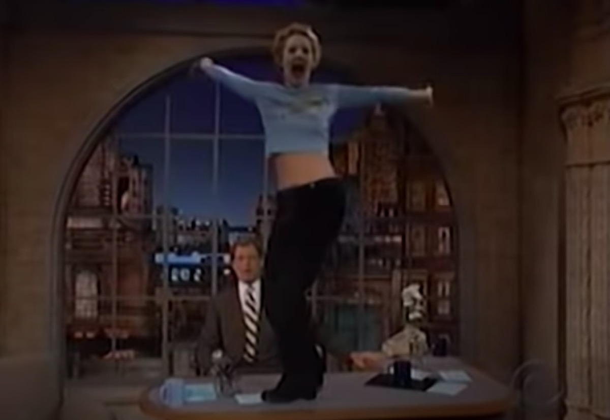Drew Barrymore on The Late Show 1995
