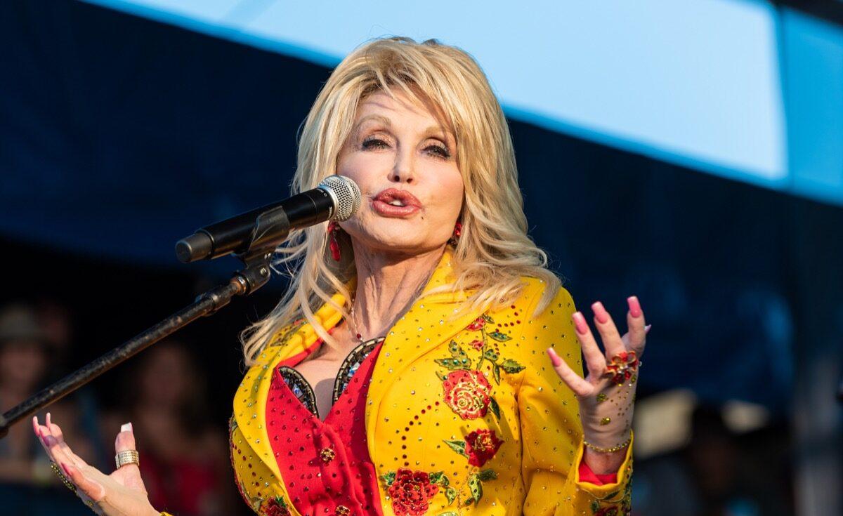 Dolly Parton performing in 2019