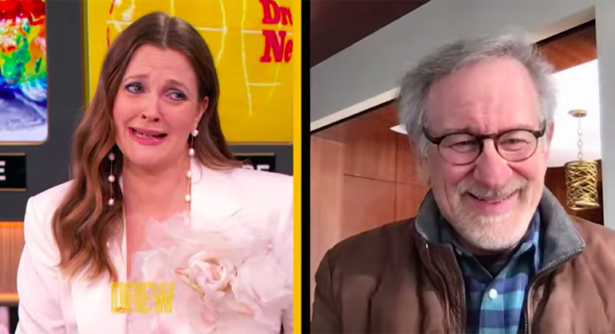 Drew Barrymore surprised on her birthday celebration show