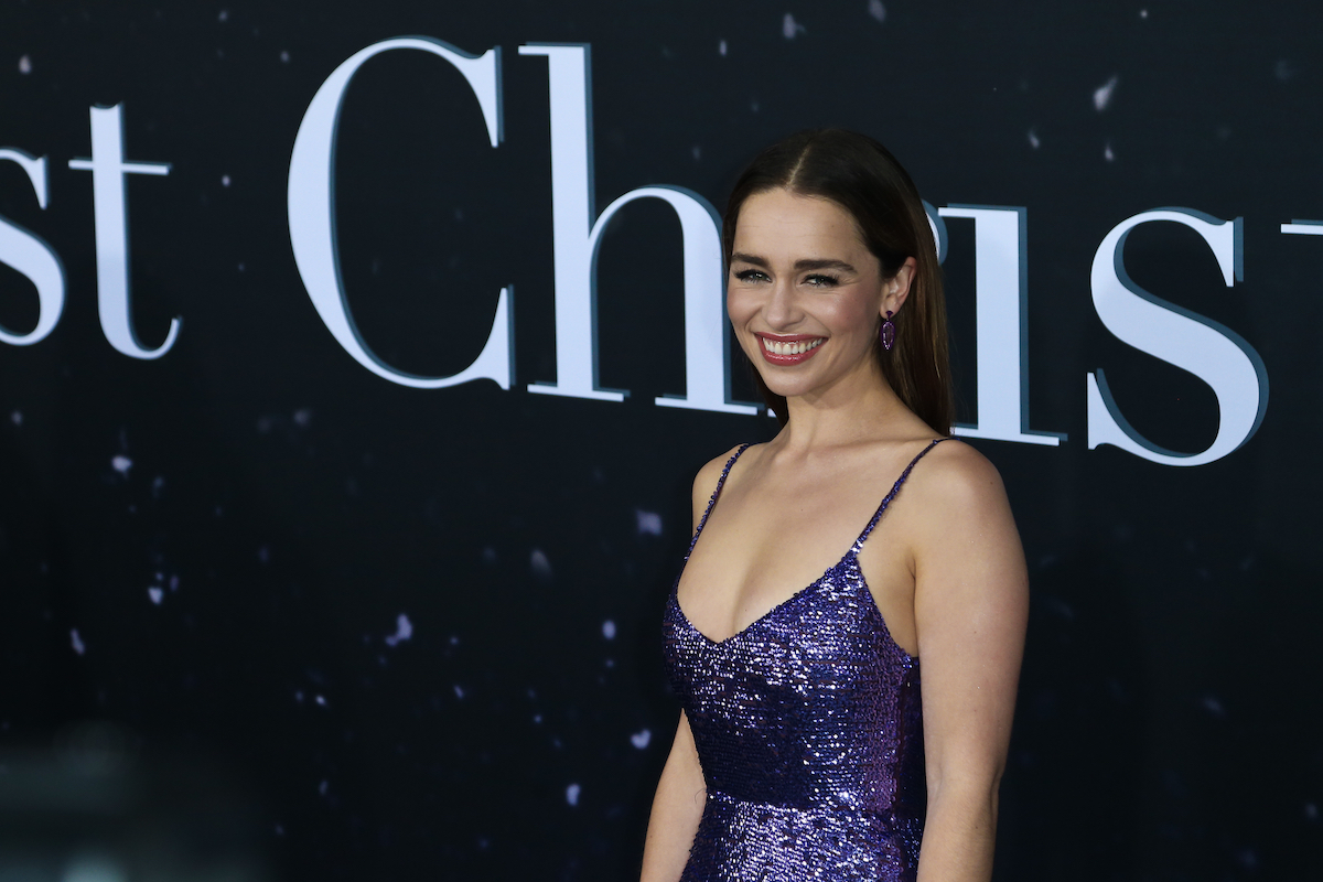 Emilia Clarke attends the Universal Pictures premiere of 'Last Christmas' at AMC Lincoln Square on on October 29, 2019 in New York City.