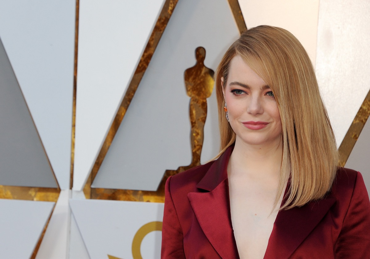 Emma Stone at the Academy Awards in 2018