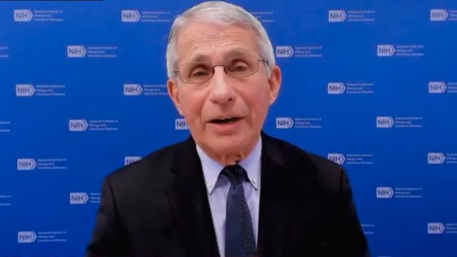 Dr. Anthony Fauci appearin on CNN on Feb. 16, 2021