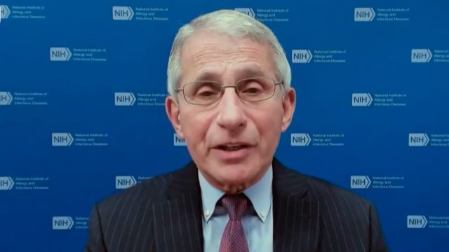 Dr. Anthony Fauci appearing on the Today Show on February 11, 2021