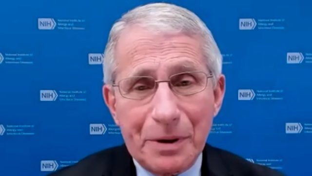 Dr. Anthony Fauci appearing on NBC affiliate WRC-TV on Feb. 22, 2021