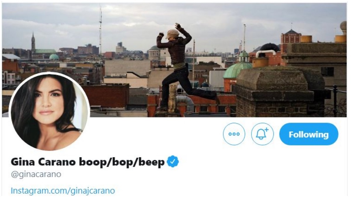 Gina Carano mocks pronouns on Twitter