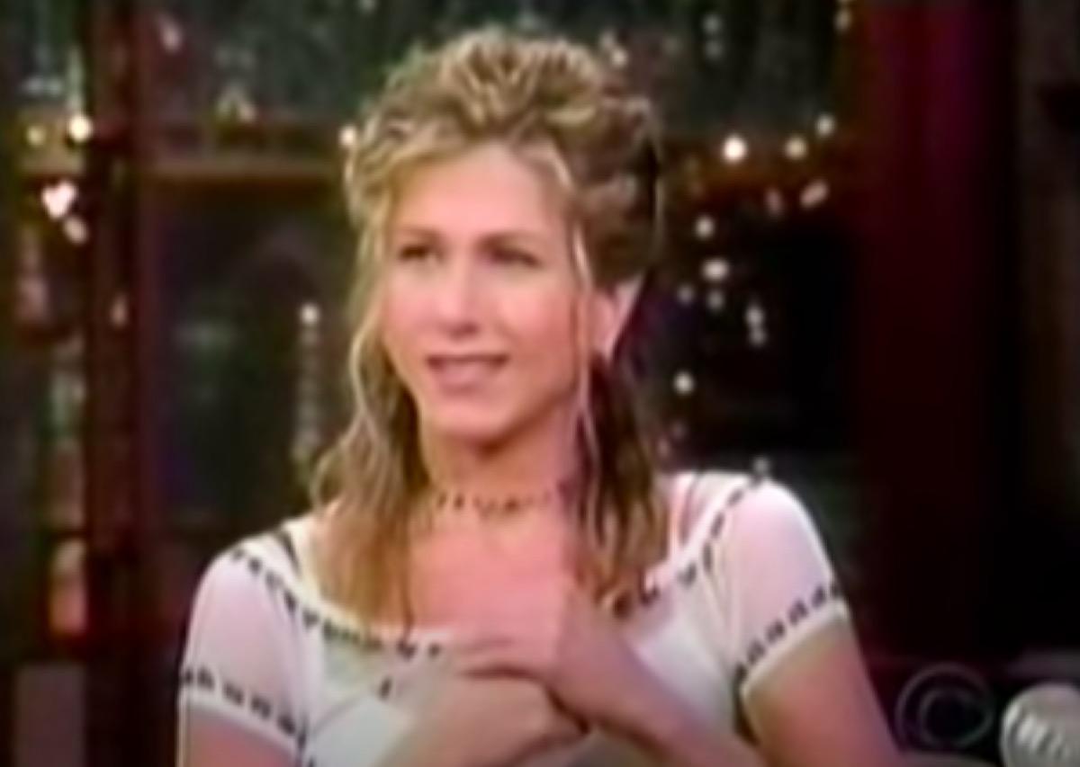 Jennifer Aniston on David Letterman
