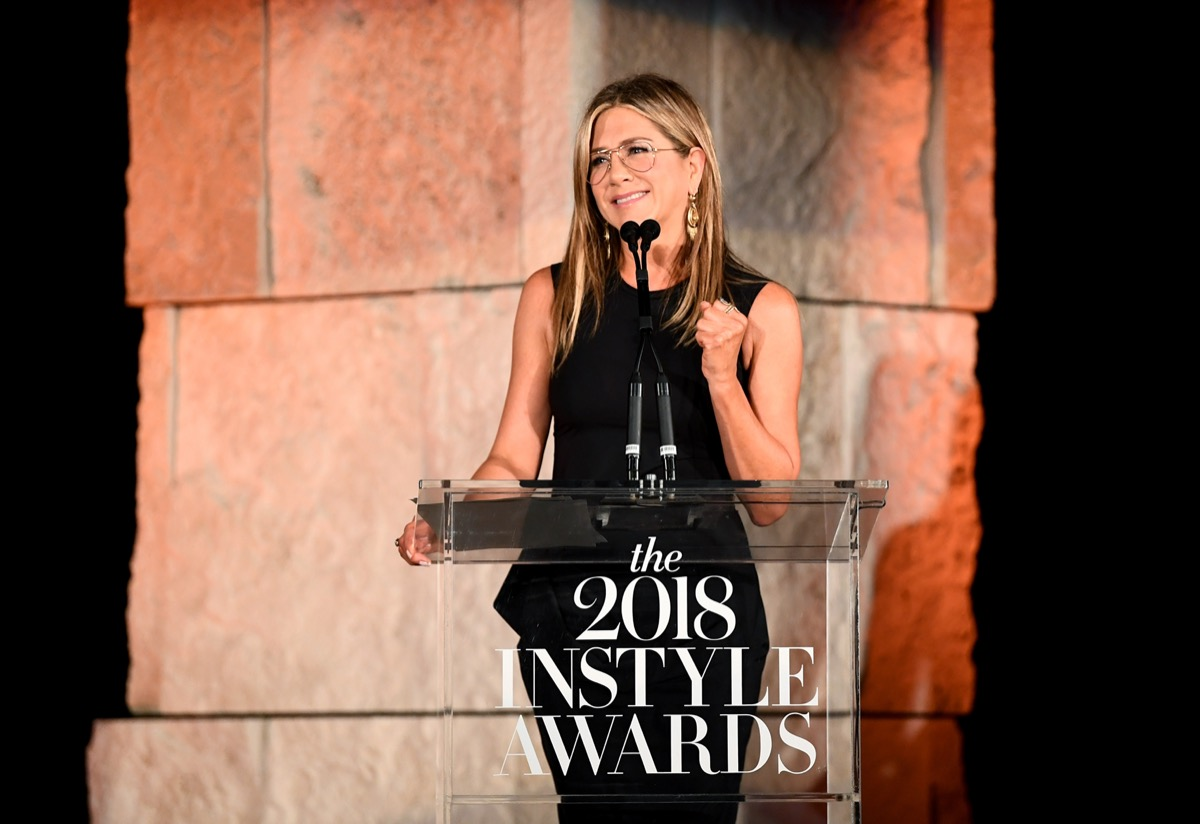 Jennifer Aniston at the InStyle Awards in 2018