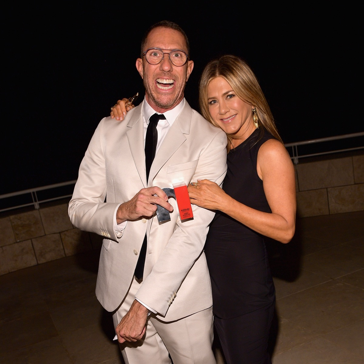 Chris McMillan and Jennifer Aniston at the InStyle Awards in 2018