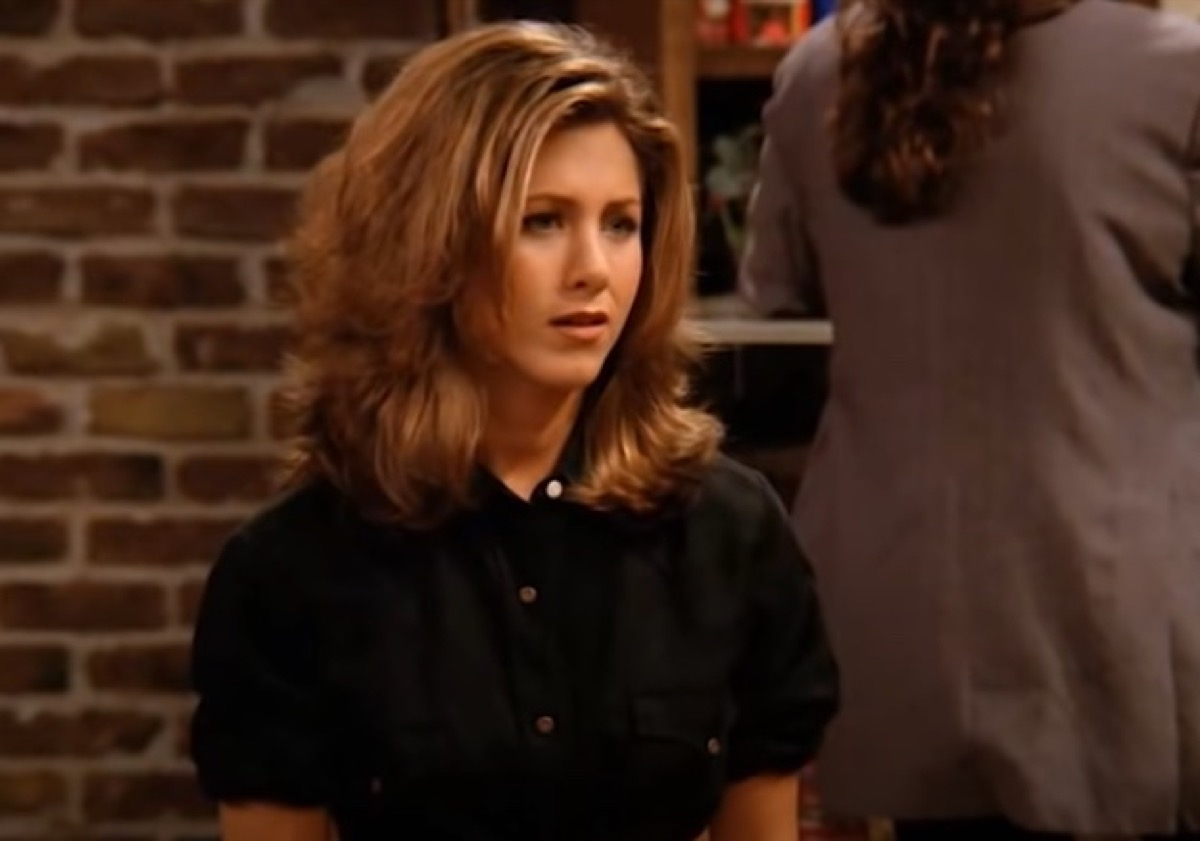 "Jennifer Aniston in Season 1 of ""Friends"" with ""The Rachel"" Haircut"