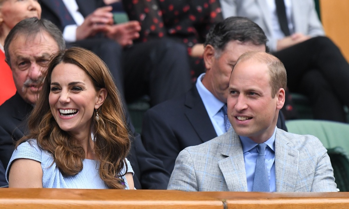 Prince William and Kate Middleton at the Wimbledon Championship in 2019