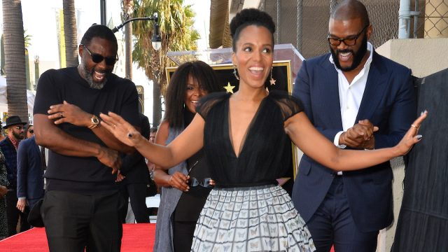Kerry Washington, Idris Elba, Crystal Fox & Tyler Perry at the Hollywood Walk of Fame Star Ceremony honoring Tyler Perry