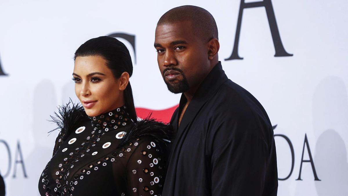 Kim Kardashian and Kanye West in 2021
